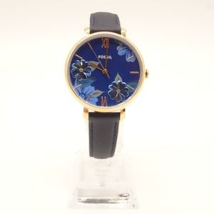Fossil Accessories - NEW FOSSIL Jacqueline Watch Navy Leather Band